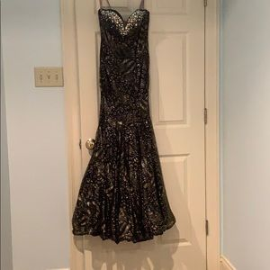 Mermaid Style Gold Shimmer Formal